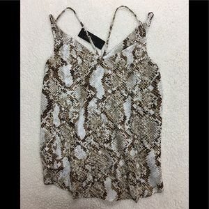 Worthington Women's rattle snake print top sz M